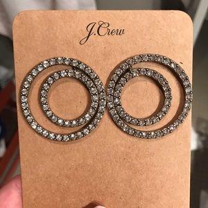 J. Crew Rhinestone Earrings NWT